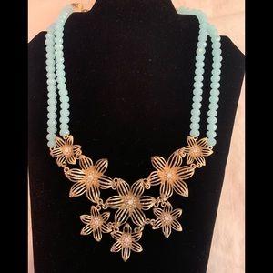 Statement Gold Flower Necklace!
